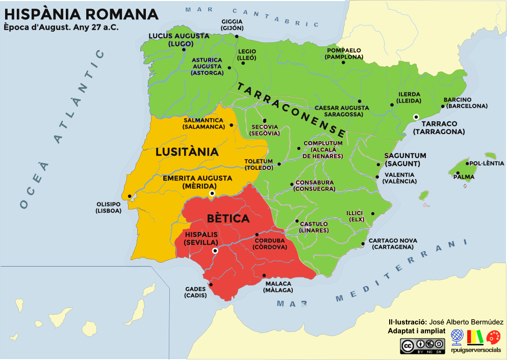 mapa provincies romanes august