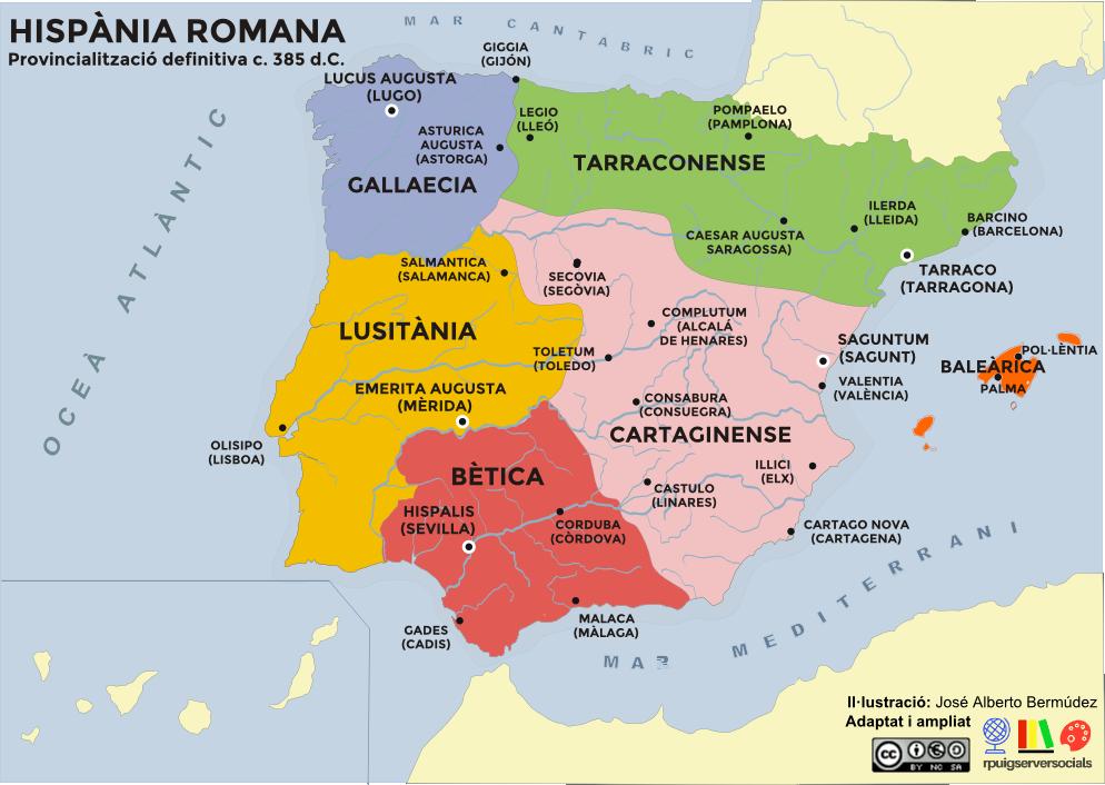 mapa provincies romanes definitiva
